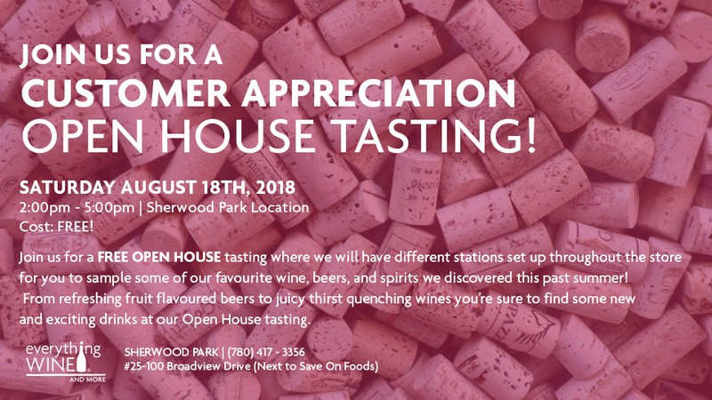 Open House Tasting Event