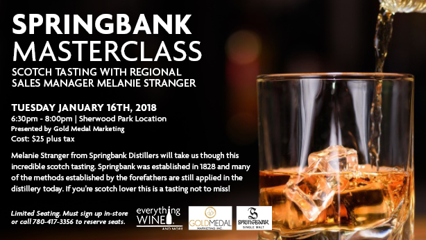 Scotch tasting masterclass with Springbank distillers