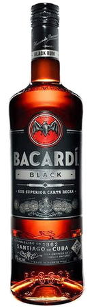 Bacardi Black Dark Rum 750ml