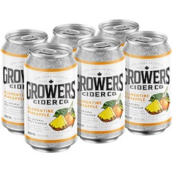 Growers Clementine Pineapple Cider 6 x 355ml can