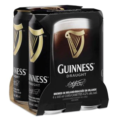 Guinness Draught Stout 4 x 440ml Cans