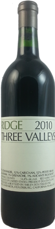Ridge Vineyards Three Valleys Zinfandel 750mL