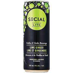 Social Lite Lime Ginger 4 x 355ml