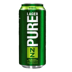 NZ Pure Lager 440ml
