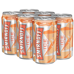 Smirnoff Ice Peach Bellini 6 x 355ml