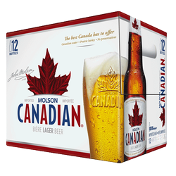 Molson Canadian Lager 12x 341ml