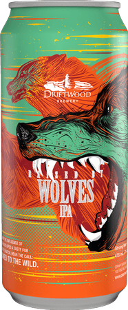 Driftwood Raised By Wolves India Pale Ale 473ml can