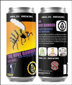 Analog Brewing The Hive Bomber Wheat Ale 473ml can
