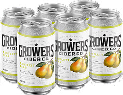 Growers Bartlett Pear Cider 6 x 355ml can