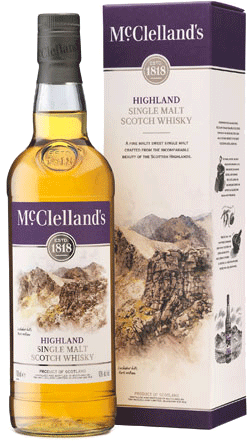 Mcclelland's Highland Single Malt Scotch Whisky Highlands 750ml