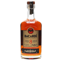 Bacardi 8yr Old Amber Rum 750ml