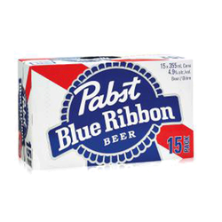 Pabst Blue Ribbon Lager 15 x 355ml