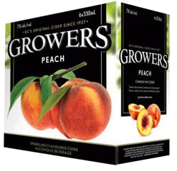 Growers Peach Cider 6 x 330ml