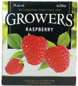 Growers Raspberry Cider 6 x 330ml