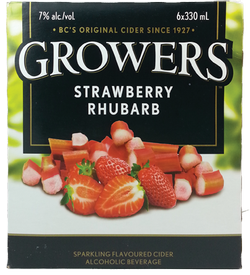Growers Strawberry Rhubarb Cider 6 x 330ml