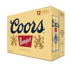 Coors 'Banquet Beer' Lager 12 x 355ml