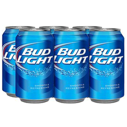 Bud Light Lager 6x355ml can