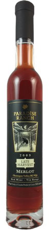 Paradise Ranch Late Harvest Merlot 375ml