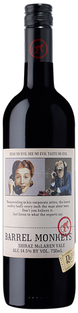 Barrel Monkeys Shiraz 750ml