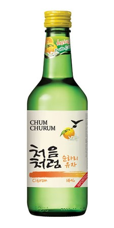 Chum Churum Citron Soju 360ml bottle