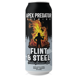 Apex Predator Flint & Steel Session Ale 473ml can