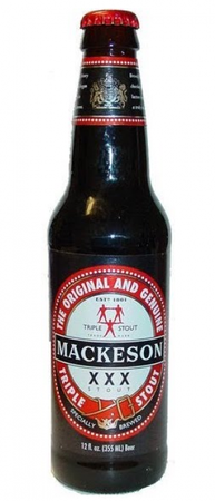 Carib Mackeson XXX Milk Stout 330ml btl