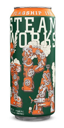 Steamworks Flagship IPA 473ml can